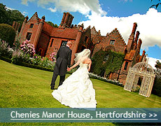 Chenies Manor House wedding venue in Hertfordshire