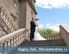 Hagley Hall wedding venue in Worcestershire