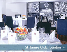 St James Club wedding venue in London